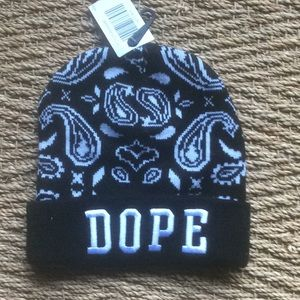 DOPE embroidered paisley beanie new w tags